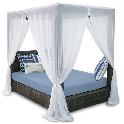 Palisades Queen Canopy Bed with Cushions Fabric: Sailor