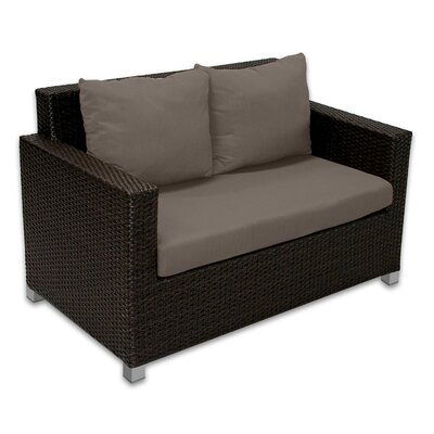 Skye Venice Loveseat with Cushions Fabric: Coffee
