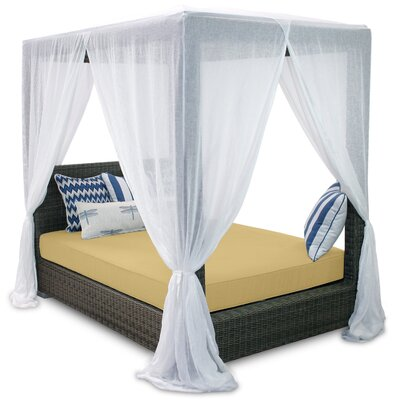 Palisades Queen Canopy Bed with Cushions Fabric: Daffodil