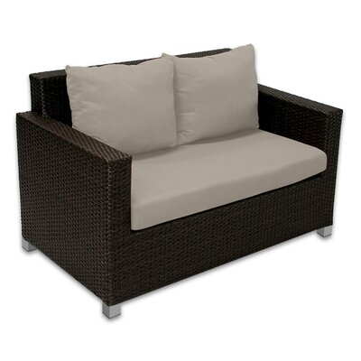 Skye Venice Loveseat with Cushions Fabric: Mushroom