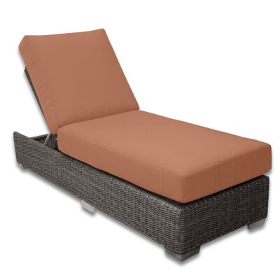 Palisades Chaise Lounge Fabric Color: Cayenne