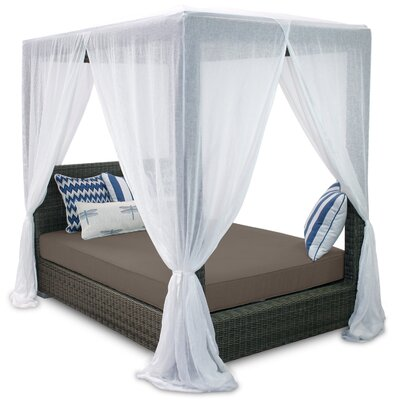 Palisades Queen Canopy Bed with Cushions Fabric: Coffee