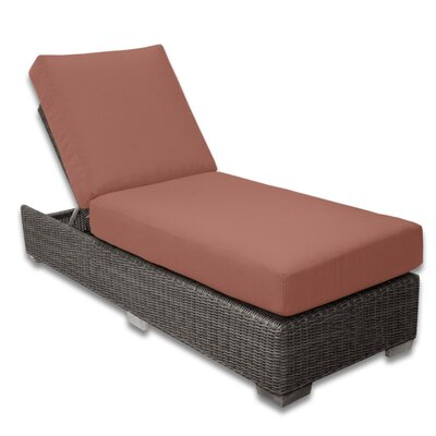 Palisades Chaise Lounge Fabric Color: Grenadine