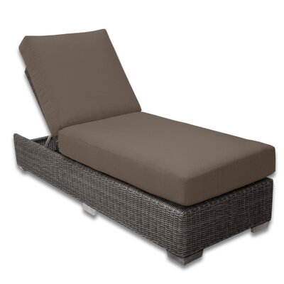 Palisades Chaise Lounge Fabric Color: Coffee