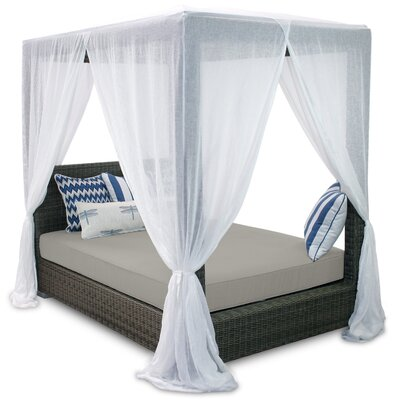 Palisades Queen Canopy Bed with Cushions Fabric: Dove