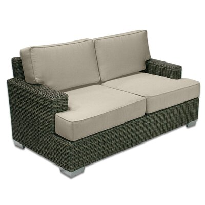 Palisades Love Seat Fabric: Sand