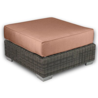 Palisades Ottoman with Cushion Fabric: Cayenne