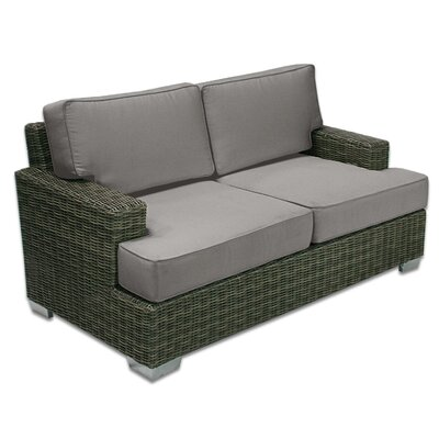Palisades Love Seat Fabric: Graphite