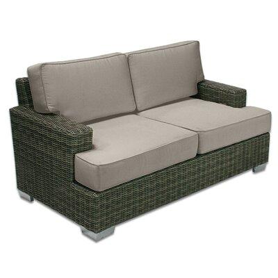 Palisades Love Seat Fabric: Mushroom