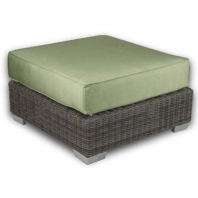 Palisades Ottoman with Cushion Fabric: Cilantro