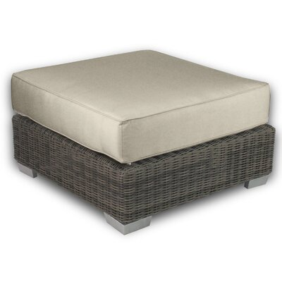 Palisades Ottoman with Cushion Fabric: Sand