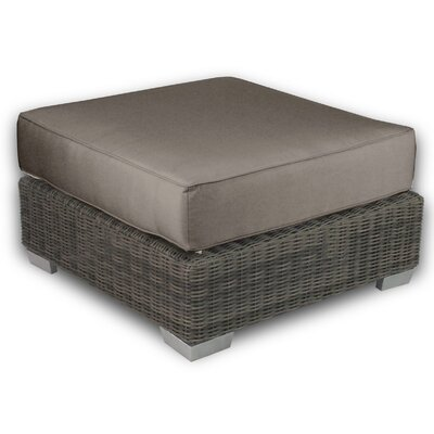 Palisades Ottoman with Cushion Fabric: Coffee