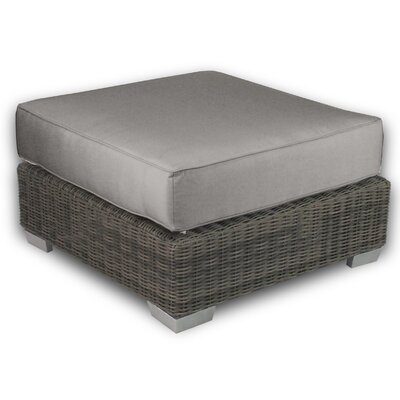 Palisades Ottoman with Cushion Fabric: Graphite