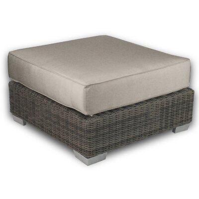 Palisades Ottoman with Cushion Fabric: Mushroom