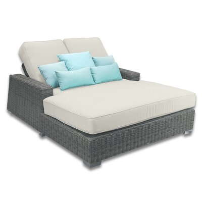 Palisades Double Chaise Cushions Color: Eggshell