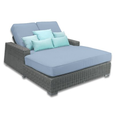 Palisades Double Chaise Cushions Color: Sailor