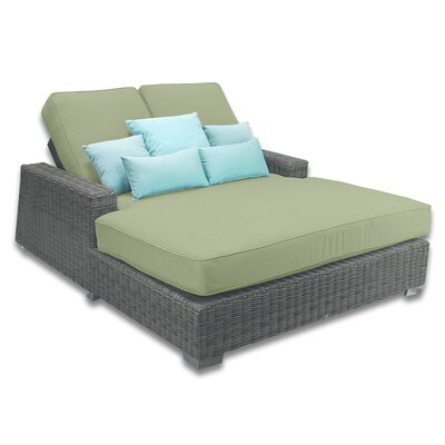 Palisades Double Chaise Cushions Color: Cilantro