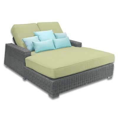 Palisades Double Chaise Cushions Color: Kiwi