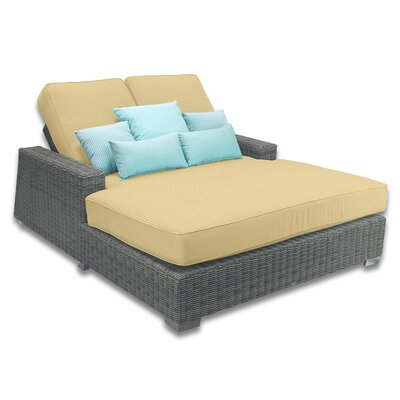 Palisades Double Chaise Cushions Color: Daffodil
