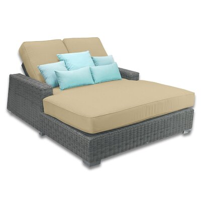 Palisades Double Chaise Cushions Color: Dijon