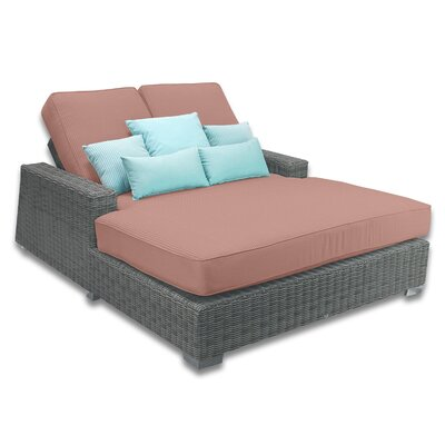 Palisades Double Chaise Cushions Color: Grenadine