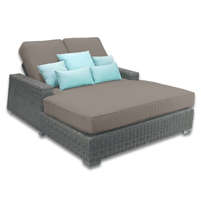Palisades Double Chaise Cushions Color: Coffee