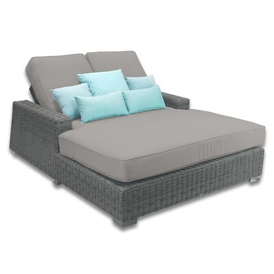 Palisades Double Chaise Cushions Color: Graphite