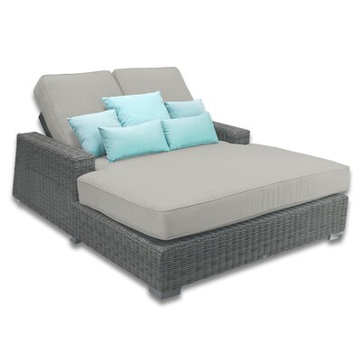 Palisades Double Chaise Cushions Color: Dove