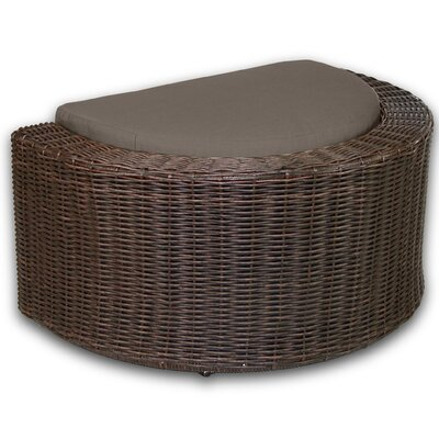 Palomar Ottoman with Cushion Fabric: Coffee