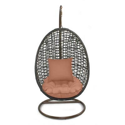 Skye Birds Nest Swing Chair with Stand Fabric: Cayenne