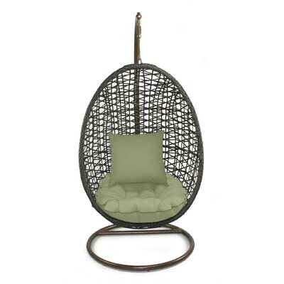 Skye Birds Nest Swing Chair with Stand Fabric: Cilantro