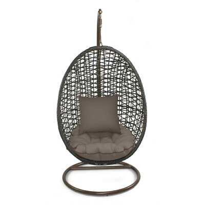 Skye Birds Nest Swing Chair with Stand Fabric: Coffee