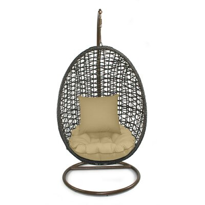 Skye Birds Nest Swing Chair with Stand Fabric: Dijon