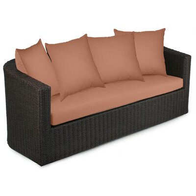 Palomar Sofa with Cushions Fabric: Cayenne