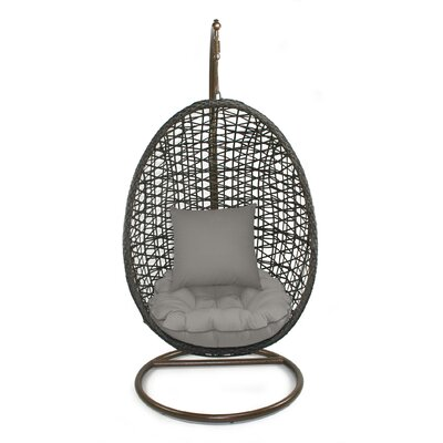 Skye Birds Nest Swing Chair with Stand Fabric: Graphite