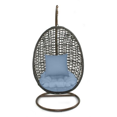 Skye Birds Nest Swing Chair with Stand Fabric: Sailor