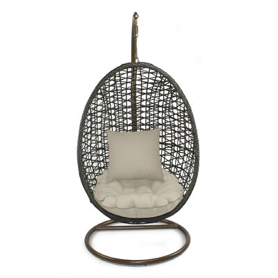 Skye Birds Nest Swing Chair with Stand Fabric: Sand
