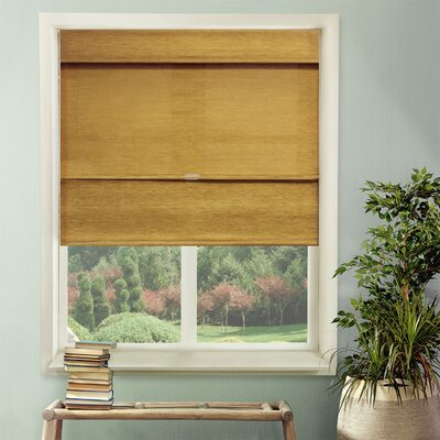 Natural Room Darkening Roman Shade Blind Size: 36W x 64L, Color: Jamaican Antique Gold