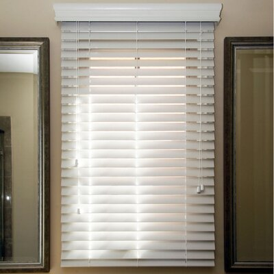 Mason Faux Wood Venetian Blind Size: 32 W x 64 L, Color: Sugar