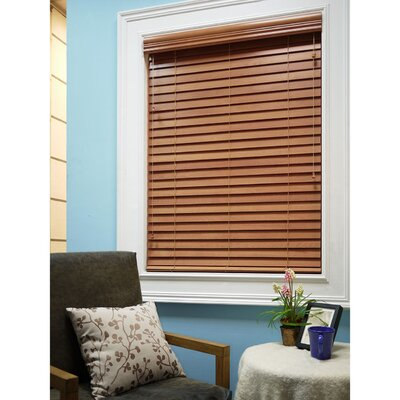 Mason Faux Wood Venetian Blind Color: Blaze, Size: 47 W x 64 L