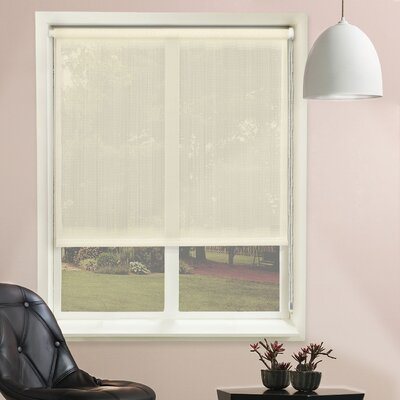Lydia Contiuous Loop Sheer Roller Shade Size: 27W x 72L, Color: Lydia Cream