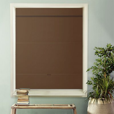 Luxurious Magnetic Room Darkening Roman Shade Blind Size: 39W x 64L, Color: Mountain Chocolate