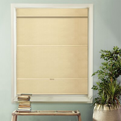 Mountain Room Darkening Roman Shade Color: Mountain Almond, Size: 33 W x 64 L