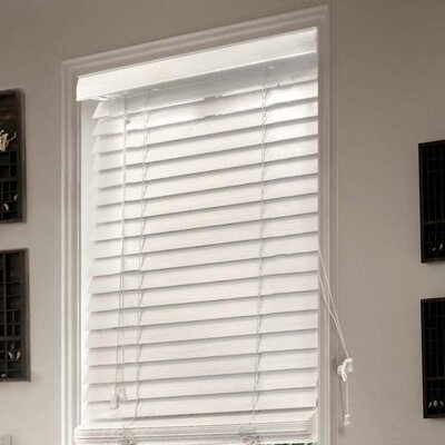 Saunders Blackout Venetian Blind Color: White, Size: 46.5 W x 64 L