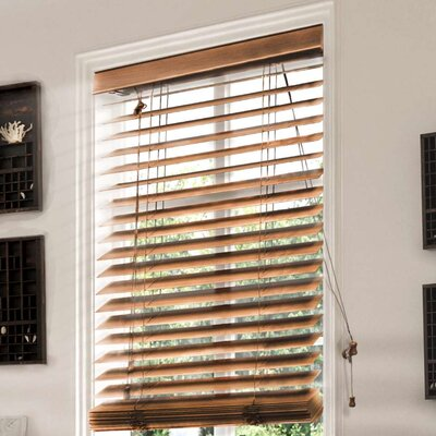 Saunders Horizontal/Venetian Blinds Size: 33.5 W x 64 L, Color: Brown