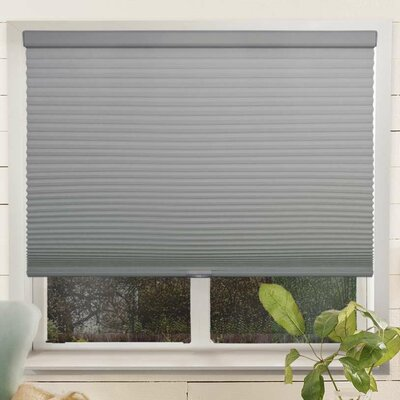 Louise Room Darkening Cellular Shade Size: 54 W x 64 L, Color: Pebble/Gray