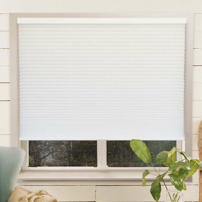 Louise Room Darkening Cellular Shade Size: 54 W x 64 L, Color: Mist/White