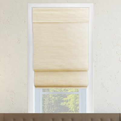 Cordless Double Layered Roman Shade Size: 35 W x 64 L