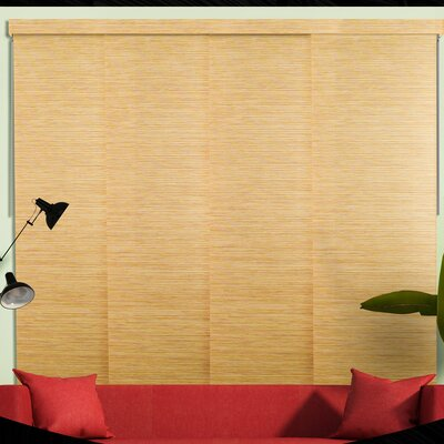 Sliding Panel Room Darkening Vertical Blind Color: Nile Reed