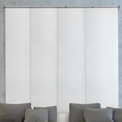 Deluxe Adjustable Sliding Panel Vertical Blind Color: Gainsboro